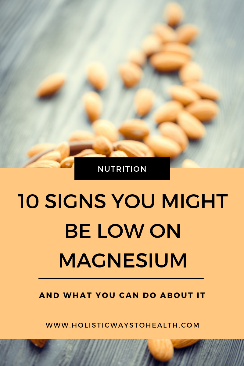 10 signs you might be low on magnesium