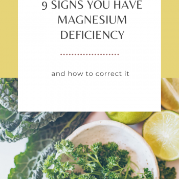 9 signsn of magnesium deficiency