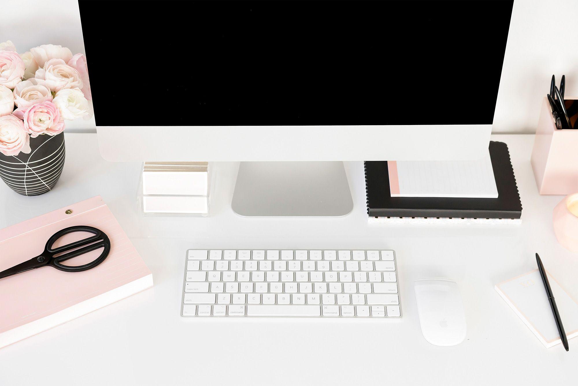 feminine styled stock desktop